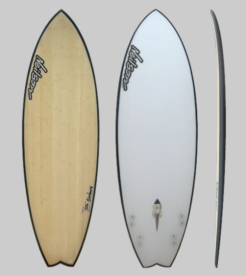 Neilson Custom Surfboards - Bamboo carbon fiber Floatey Fish